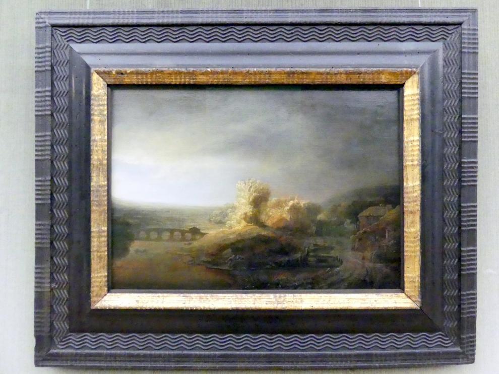 Govaert Flinck: Landschaft mit Bogenbrücke, um 1640