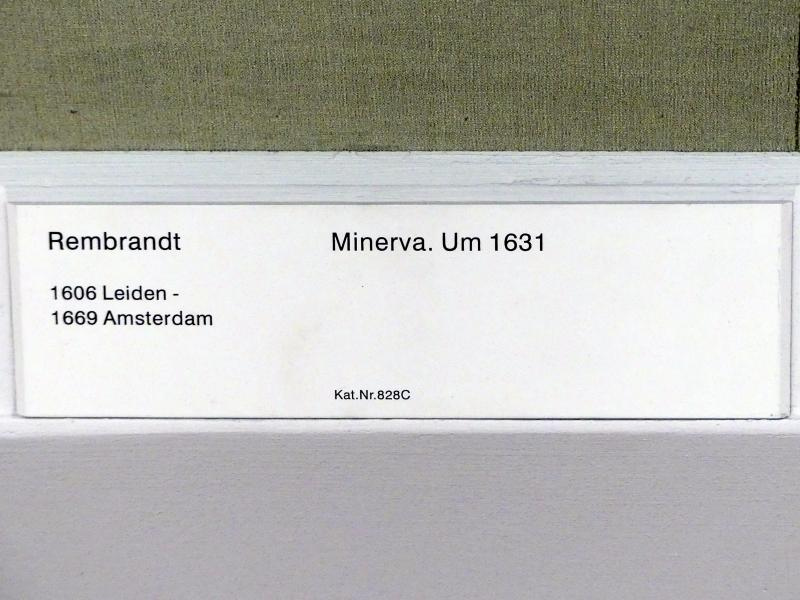 Rembrandt (Rembrandt Harmenszoon van Rijn): Minerva, Um 1631