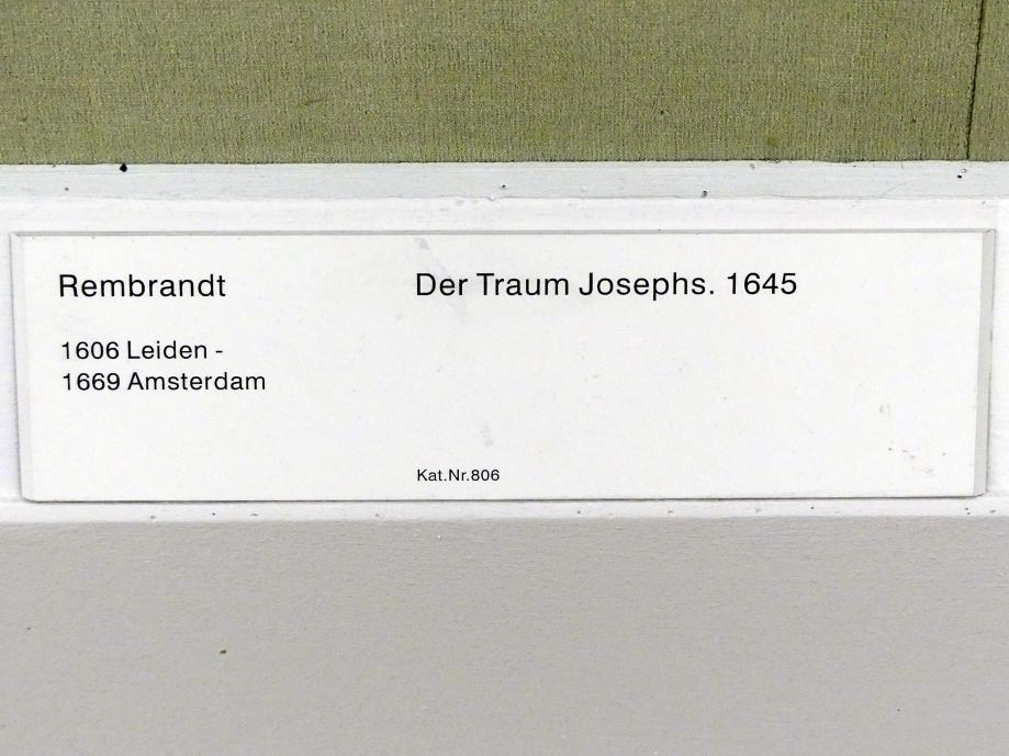 Rembrandt (Rembrandt Harmenszoon van Rijn): Der Traum Josephs, 1645