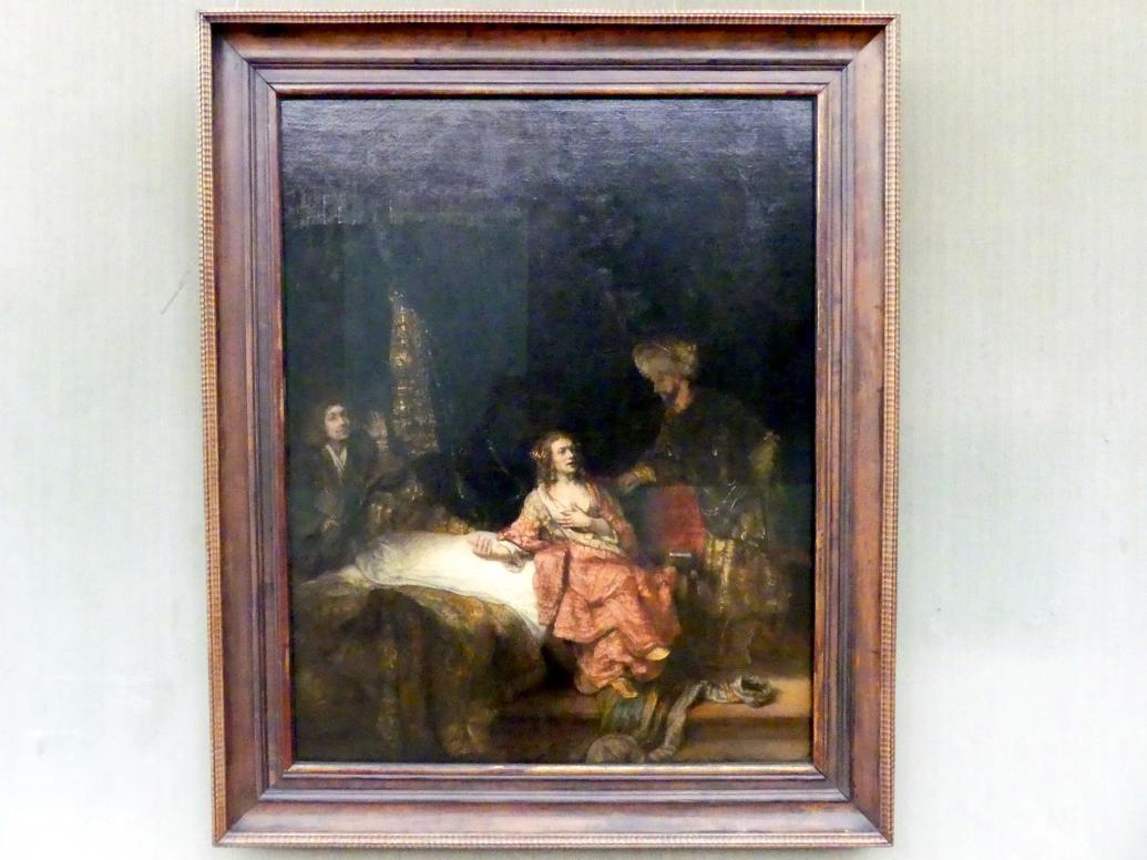 Rembrandt (Rembrandt Harmenszoon van Rijn): Joseph und die Frau des Potiphar, 1655