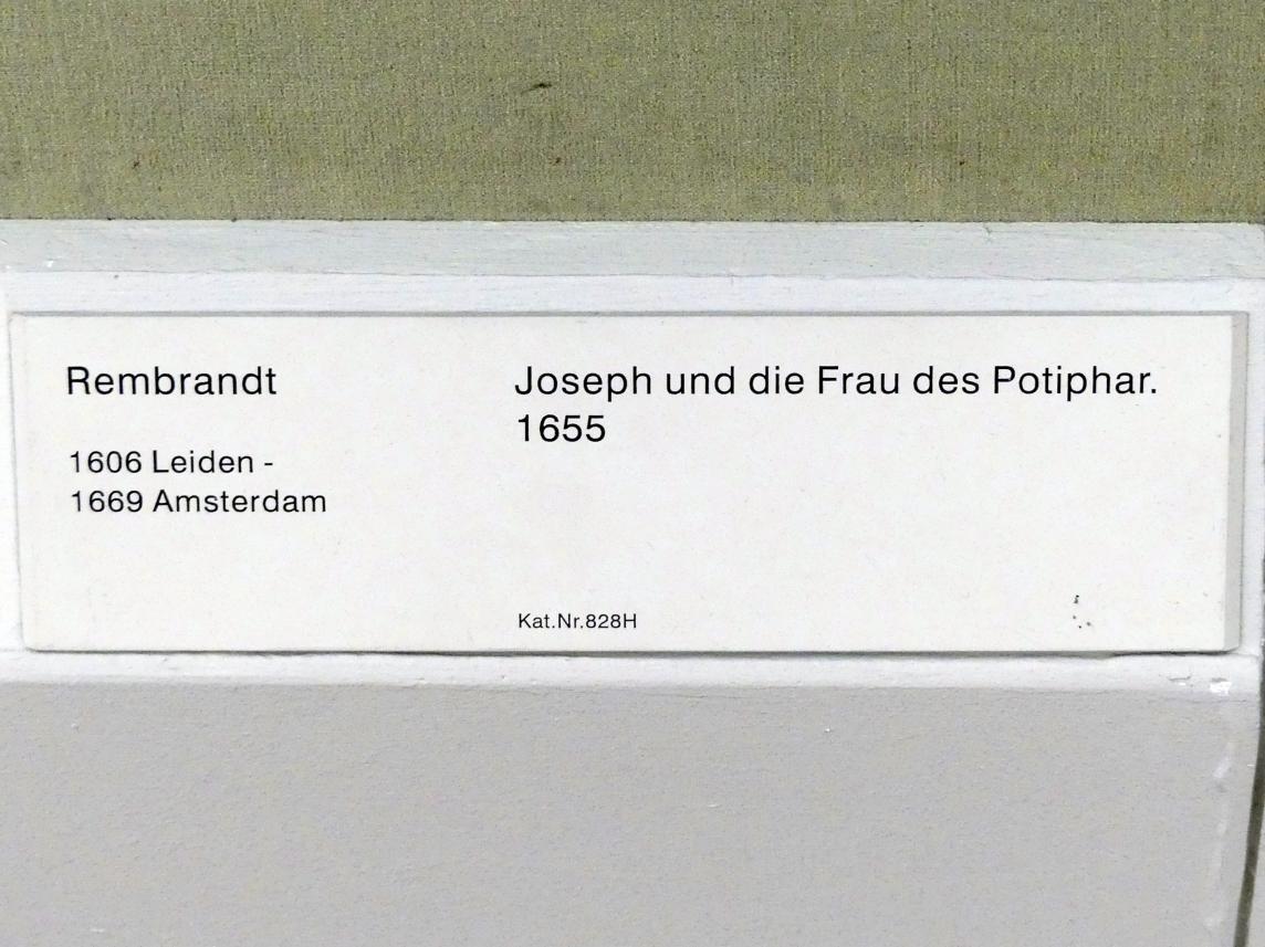 Rembrandt (Rembrandt Harmenszoon van Rijn): Joseph und die Frau des Potiphar, 1655, Bild 2/2