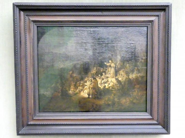 Rembrandt (Rembrandt Harmenszoon van Rijn): Die Predigt Johannes des Täufers, Um 1634 - 1635