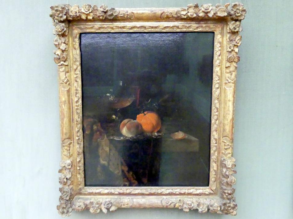 Willem Kalf: Stillleben mit Glaspokal und Früchten, um 1655