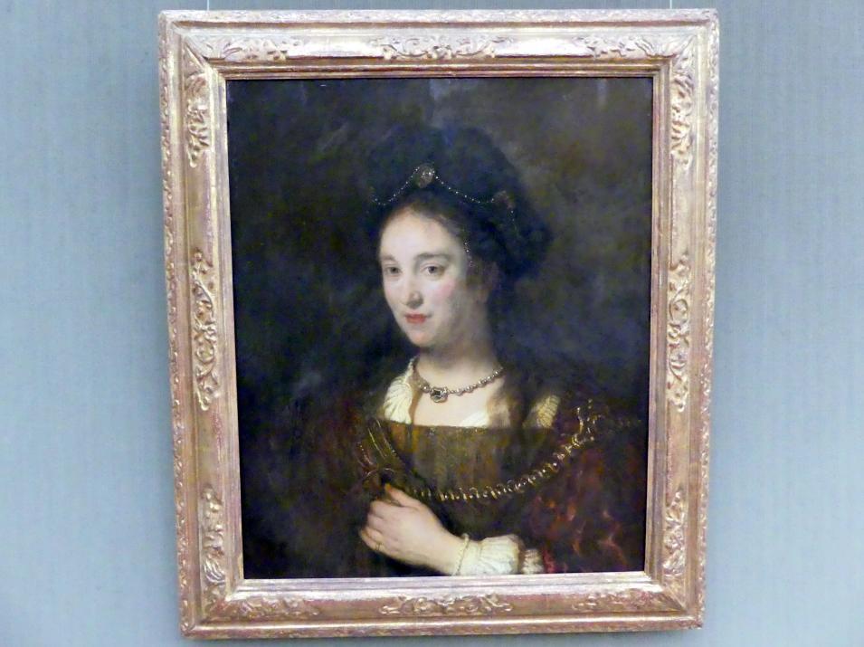 Rembrandt (Rembrandt Harmenszoon van Rijn): Saskia van Uylenburgh, die Ehefrau des Malers, 1643