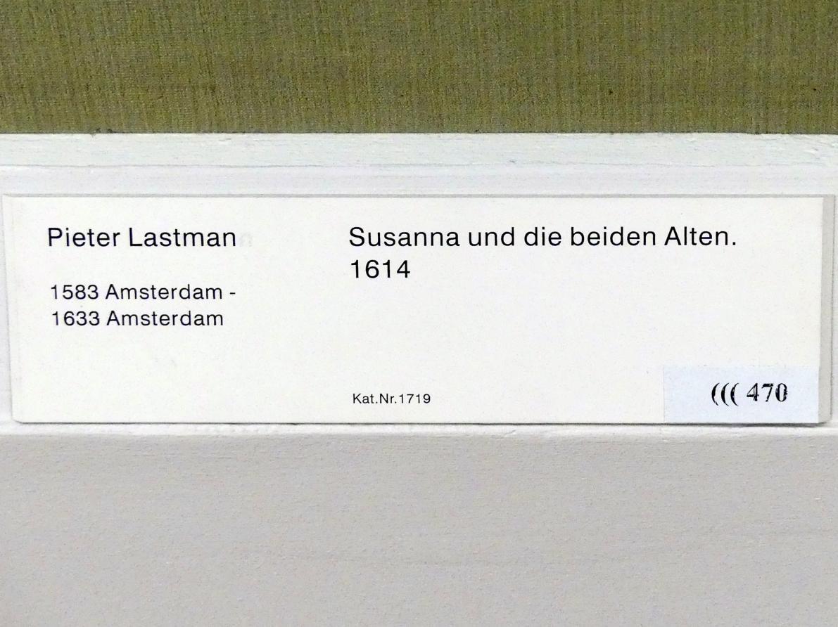 Pieter Lastman: Susanna und die beiden Alten, 1614, Bild 2/2