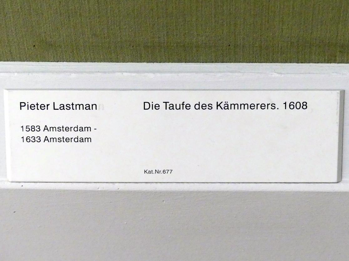 Pieter Lastman: Die Taufe des Kämmerers, 1608, Bild 2/2