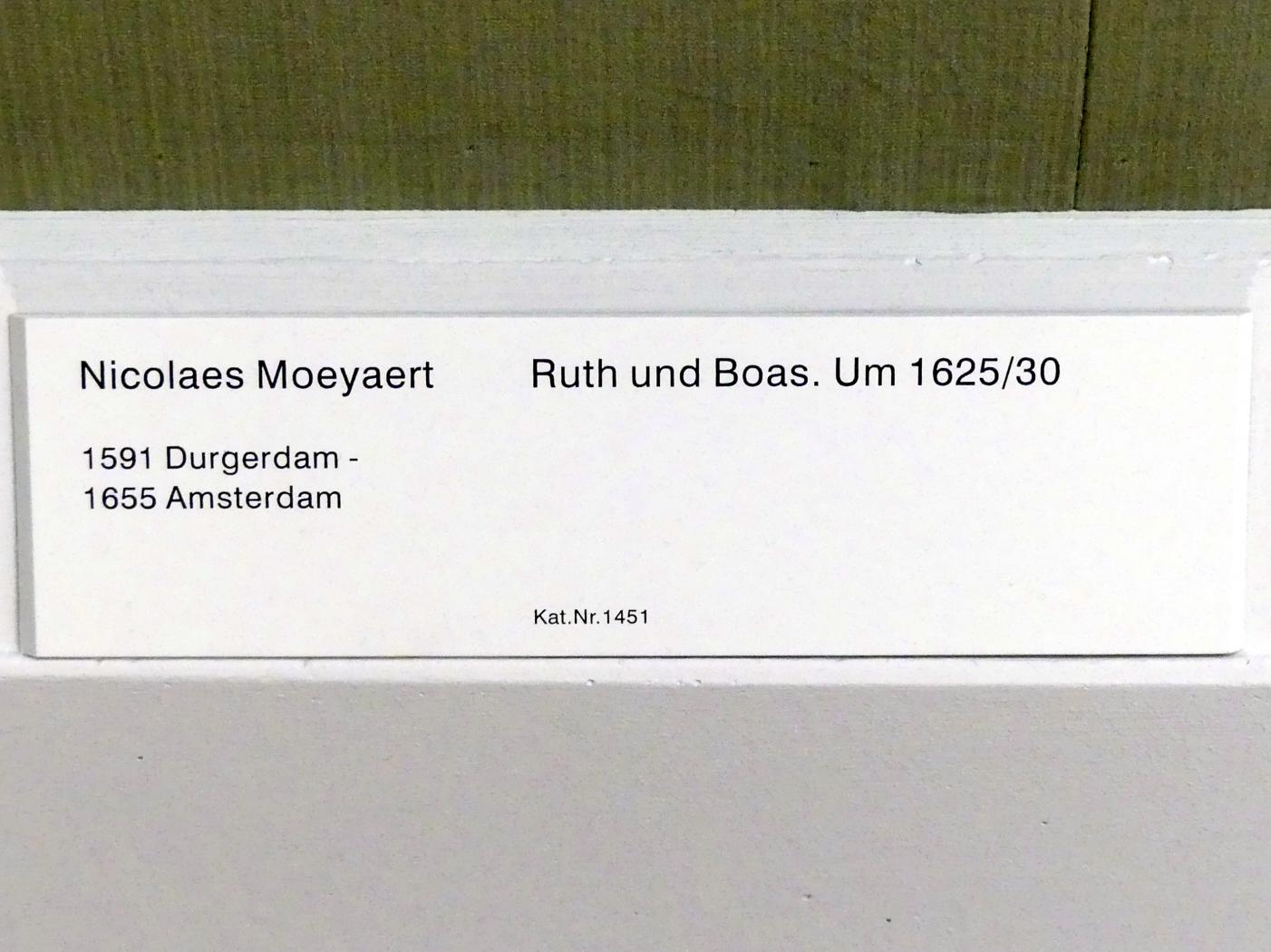 Nicolaes Moeyaert (Claes Corneliszoon Moeyaert): Ruth und Boas, 1625 - 1630