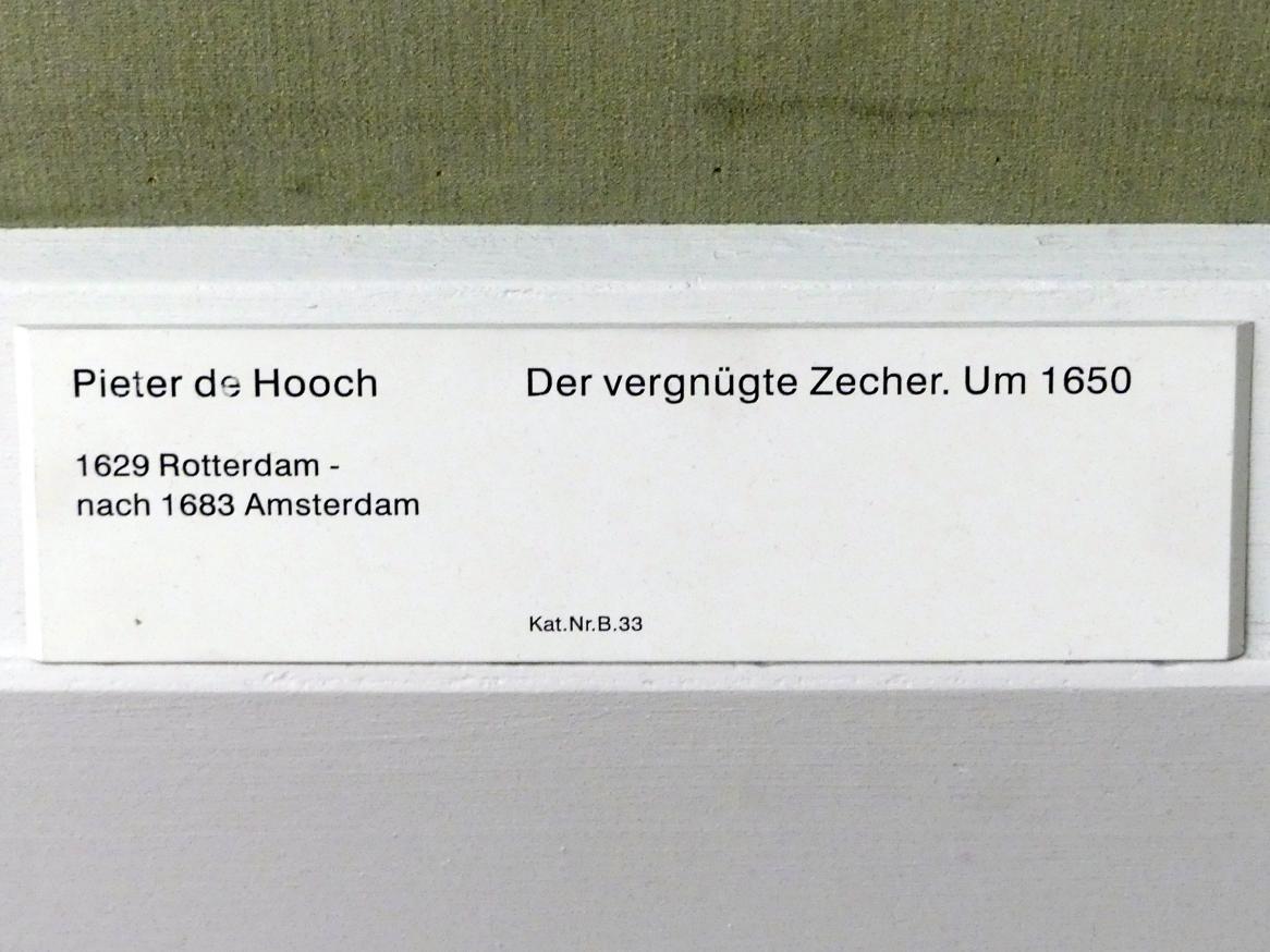 Pieter de Hooch: Der vergnügte Zecher, um 1650, Bild 2/2