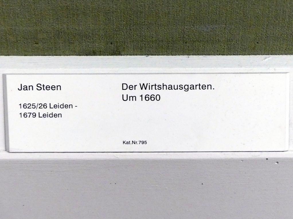 Jan Havickszoon Steen: Der Wirtshausgarten, Um 1660