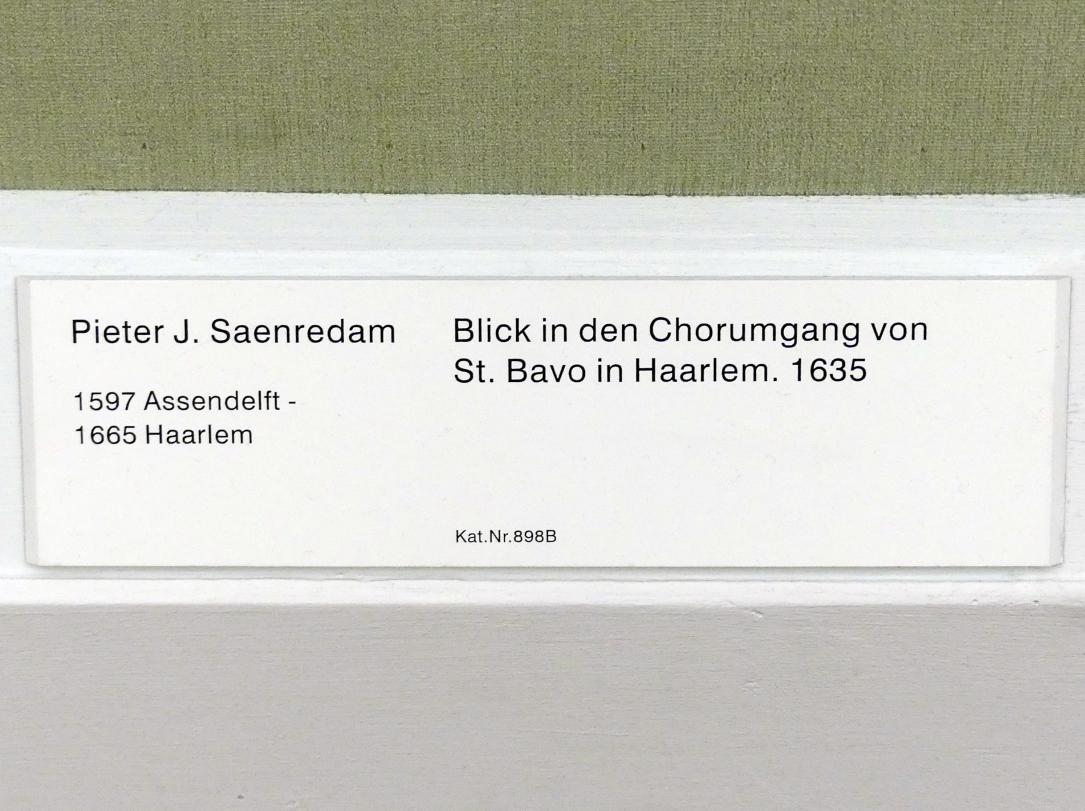 Pieter Jansz. Saenredam: Blick in den Chorumgang von St. Bavo in Haarlem, 1635