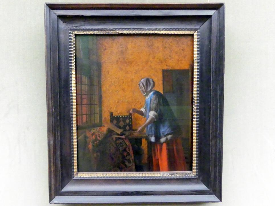 Pieter de Hooch: Die Goldwägerin, Um 1664
