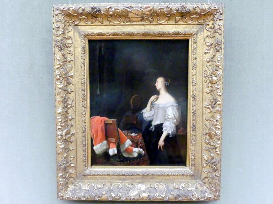 Frans van Mieris der Ältere: Junge Dame vor dem Spiegel, um 1662 - 1666, Bild 1/2
