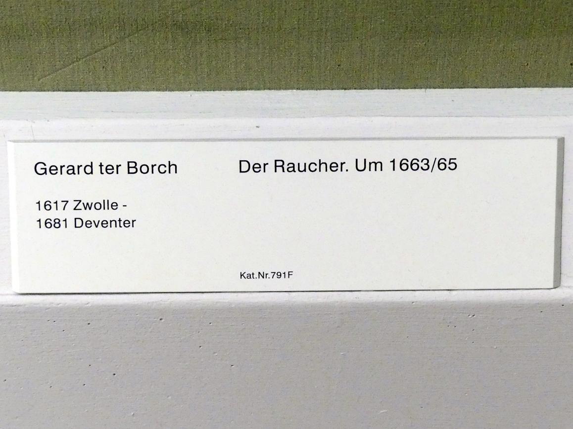 Gerard ter Borch: Der Raucher, um 1663 - 1665, Bild 2/2