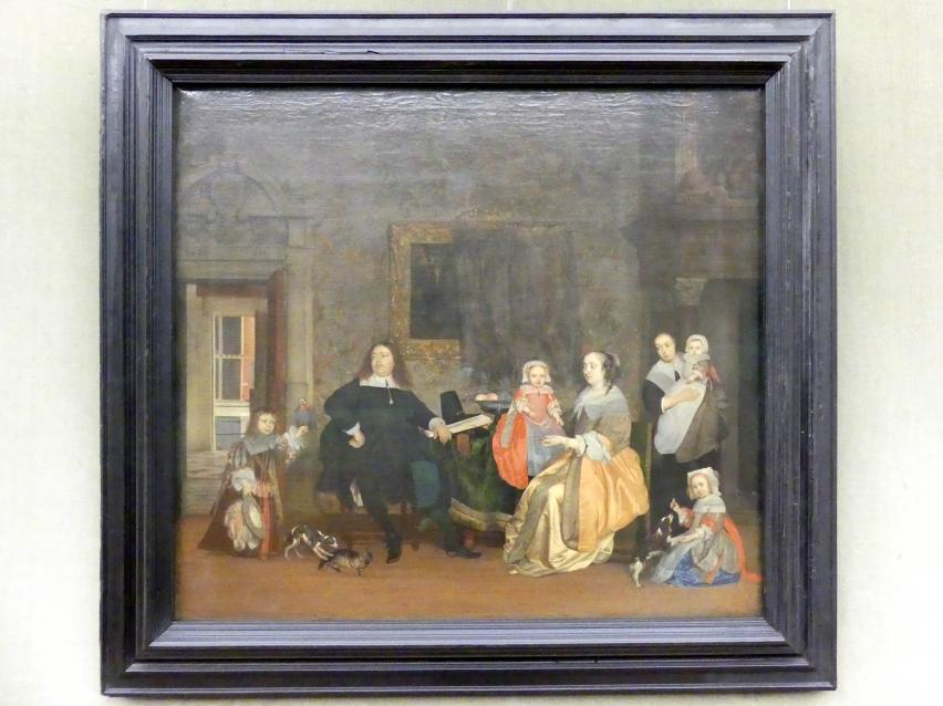 Gabriël Metsu: Bildnis des Jan Jacobsz Hinlopen und seiner Familie, um 1662