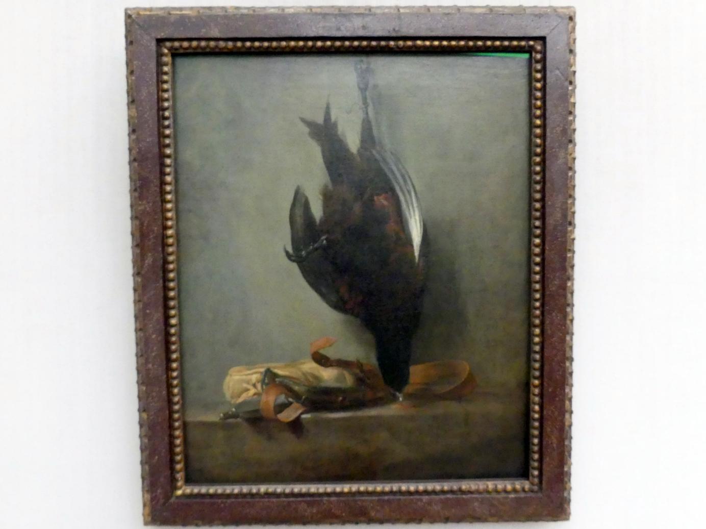 Jean Siméon Chardin: Stillleben mit totem Fasan und Jagdtasche, 1760