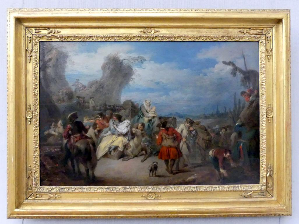 Jean-Baptiste Pater: Der Truppenmarsch (Krieg), Undatiert