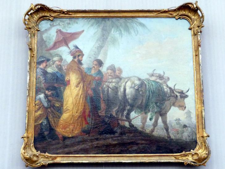 Christian Bernhard Rode: Der Kaiser von China zieht die erste Furche zu Ehren des Ackerbaues, 1771