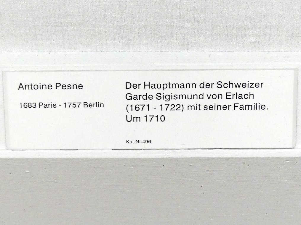 Antoine Pesne: Der Hauptmann der Schweizer Garde Sigismund von Erlach (1671-1722) mit seiner Familie, Um 1710