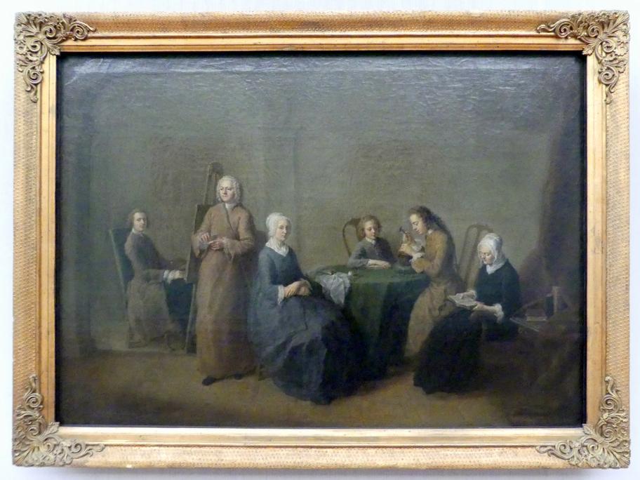 Christian Bernhard Rode: Der Künstler im Kreise seiner Familie, Um 1745