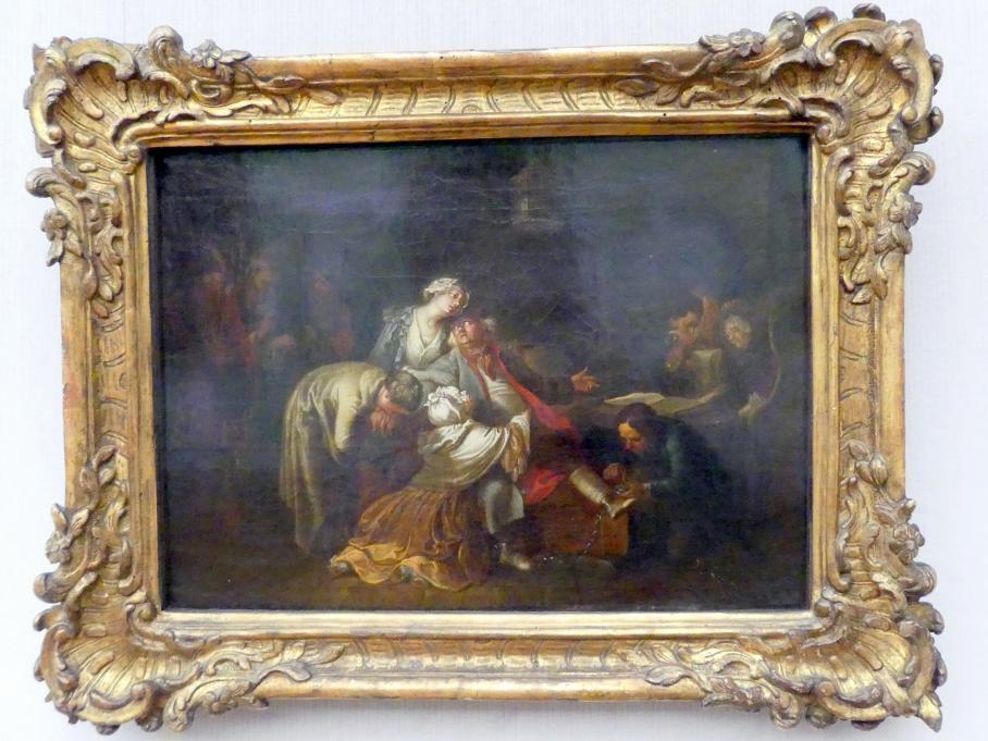 Daniel Nikolaus Chodowiecki: Der Abschied des Jean Calas von seiner Familie vor der Hinrichtung am 10. März 1762, 1765 - 1766
