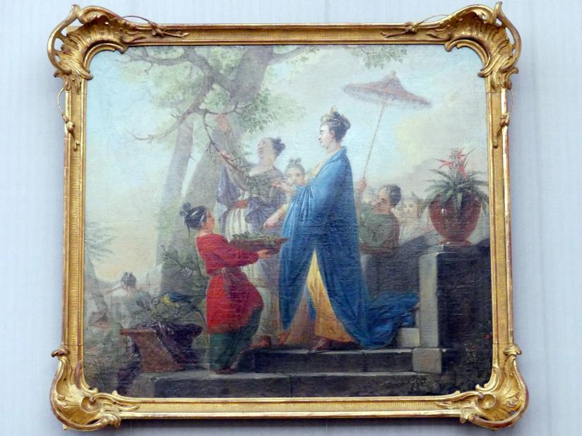 Christian Bernhard Rode: Die Kaiserin von China beim Pflücken der ersten Maulbeerblätter zu Ehren des Seidenbaues, 1771