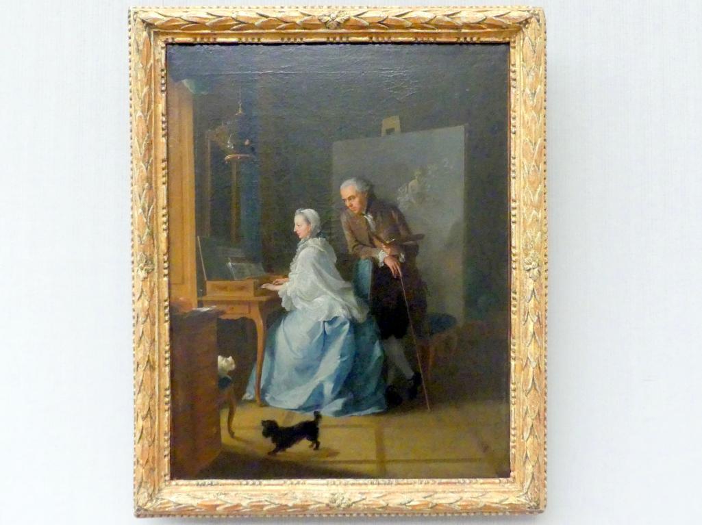 Johann Heinrich Tischbein der Ältere: Selbstbildnis mit seiner ersten Frau am Klavichord, 1756 - 1757