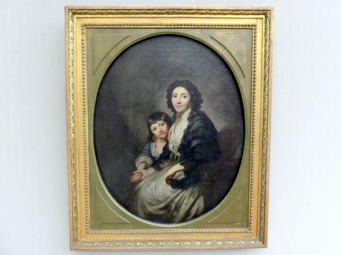 Anton Graff: Elisabeth Sophie Augusta Graff, geb. Sulzer (1753-1812) und ihre Tochter Caroline Susanne (1781-1828), Um 1790