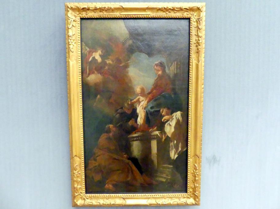 Federico Bencovich: Thronende Maria mit dem Kind und den hll. Joseph, Antonius von Padua und Francesco Borgia, 1725 - 1730