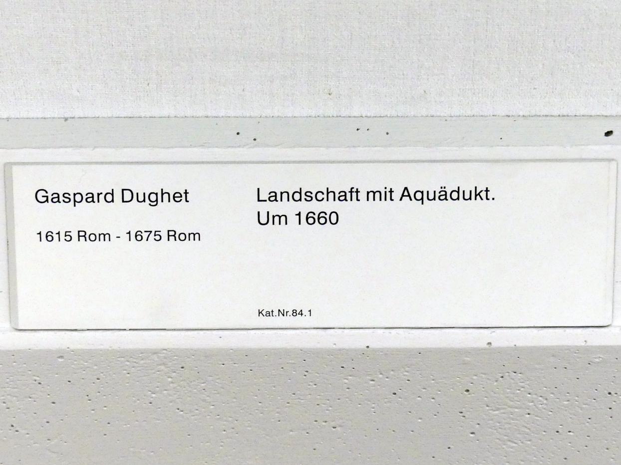 Gaspard Poussin (Gaspard Dughet): Landschaft mit Aquädukt, um 1660, Bild 2/2