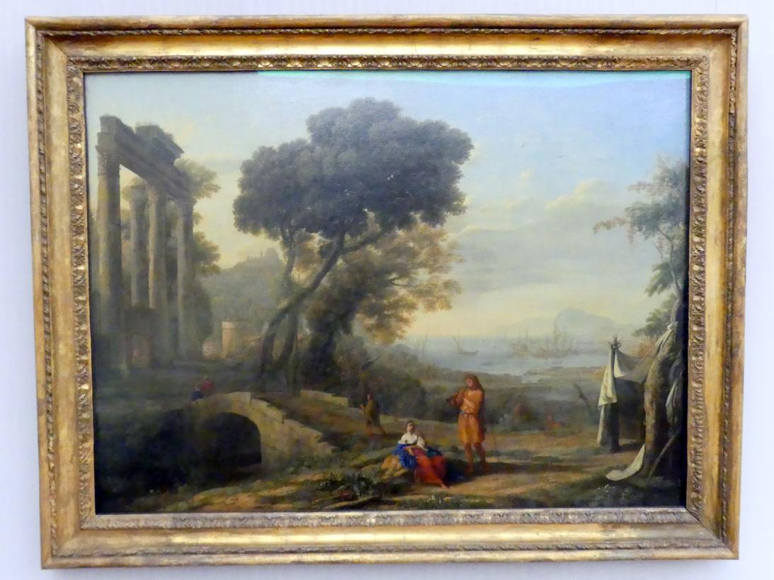 Claude Lorrain (Claude Gellée): Italienische Küstenlandschaft im Morgenlicht, 1642