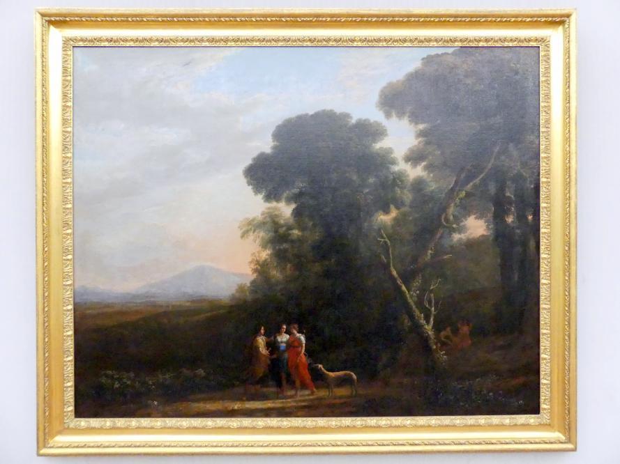 Claude Lorrain (Claude Gellée): Römische Ideallandschaft mit Cephalus, Procris und Diana, 1635 - 1636