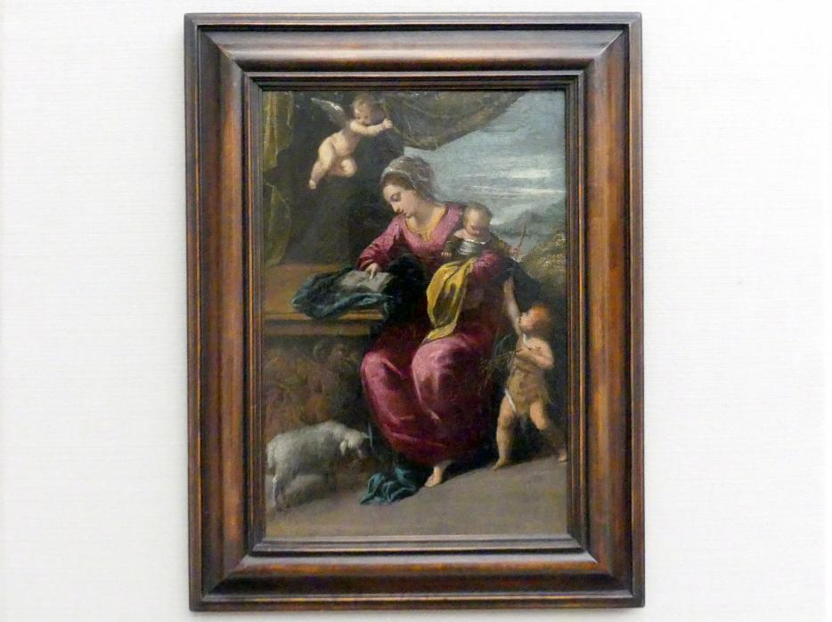 Ippolito Scarsella (Scarsellino): Maria mit dem Kind und dem Johannesknaben, Um 1590