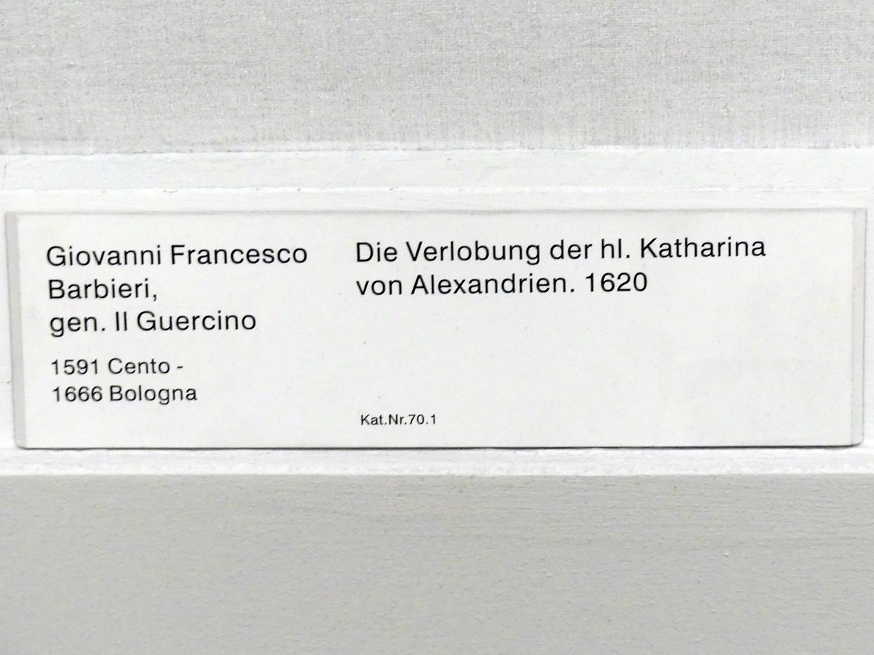 Giovanni Francesco Barbieri (Il Guercino): Die Verlobung der hl Katharina von Alexandrien, 1620, Bild 2/2