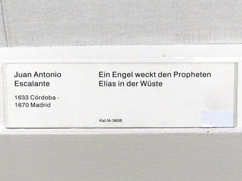Juan Antonio Escalante: Ein Engel weckt den Propheten Elias in der Wüste, Undatiert, Bild 2/2