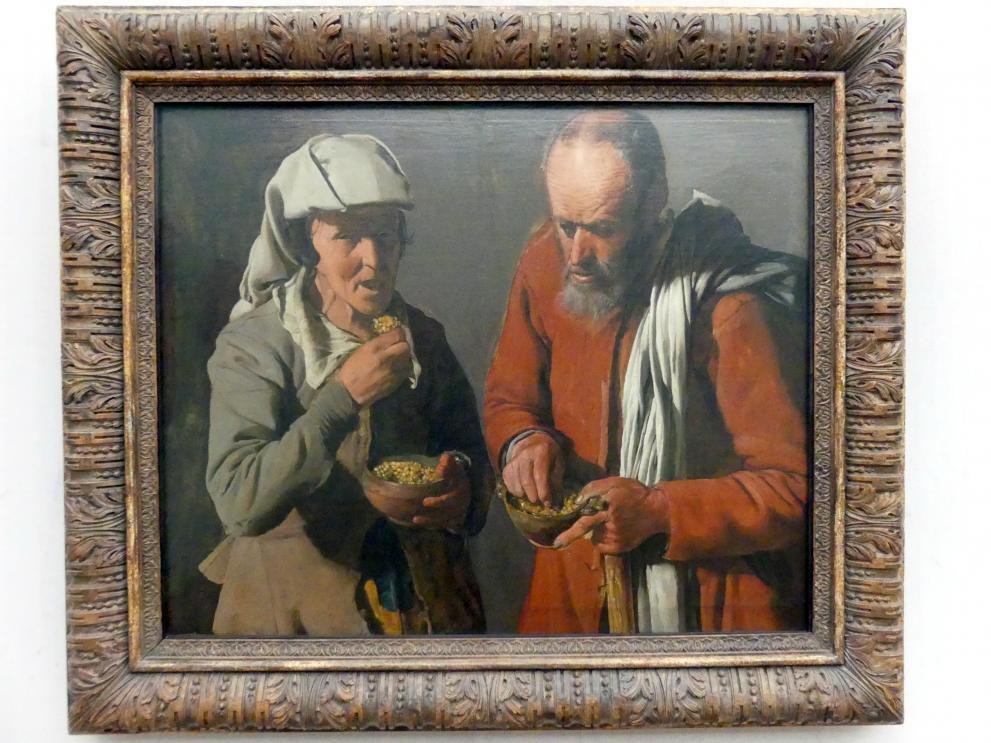 Georges de la Tour: Erbsen essendes Bauernpaar, Um 1622 - 1625