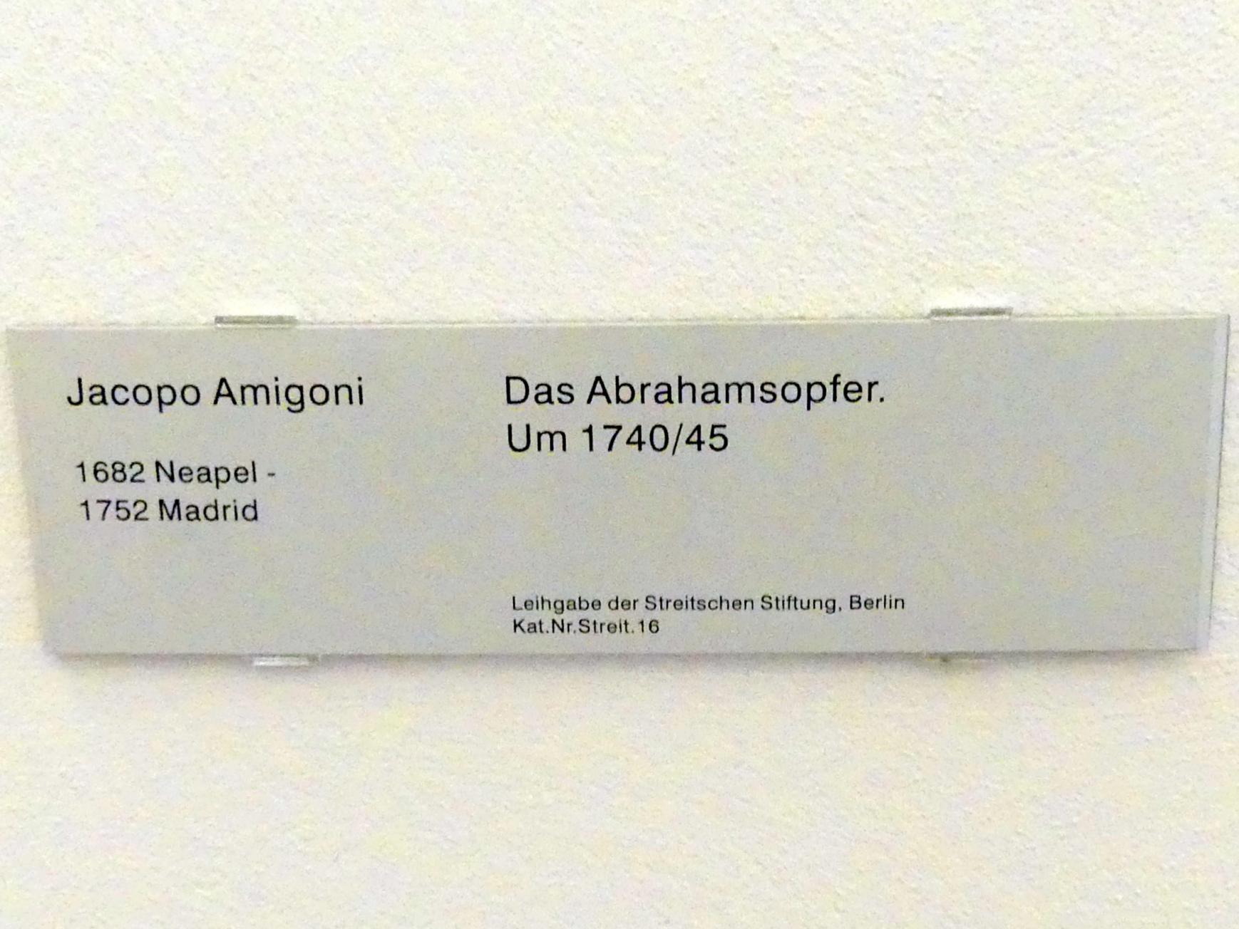 Jacopo Amigoni: Das Abrahamsopfer, um 1740 - 1745, Bild 2/2