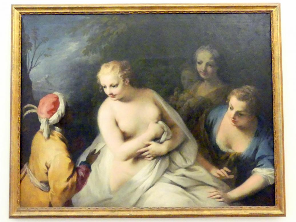 Jacopo Amigoni: Bathseba im Bade erhält die Botschaft Davids, um 1740 - 1745