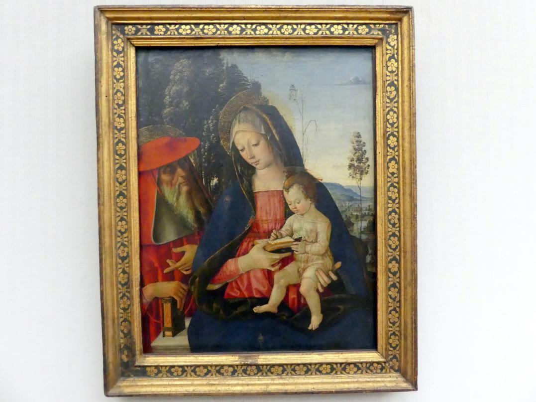 Pinturicchio (Pintoricchio): Maria mit dem Kind und dem hl. Hieronymus, Undatiert