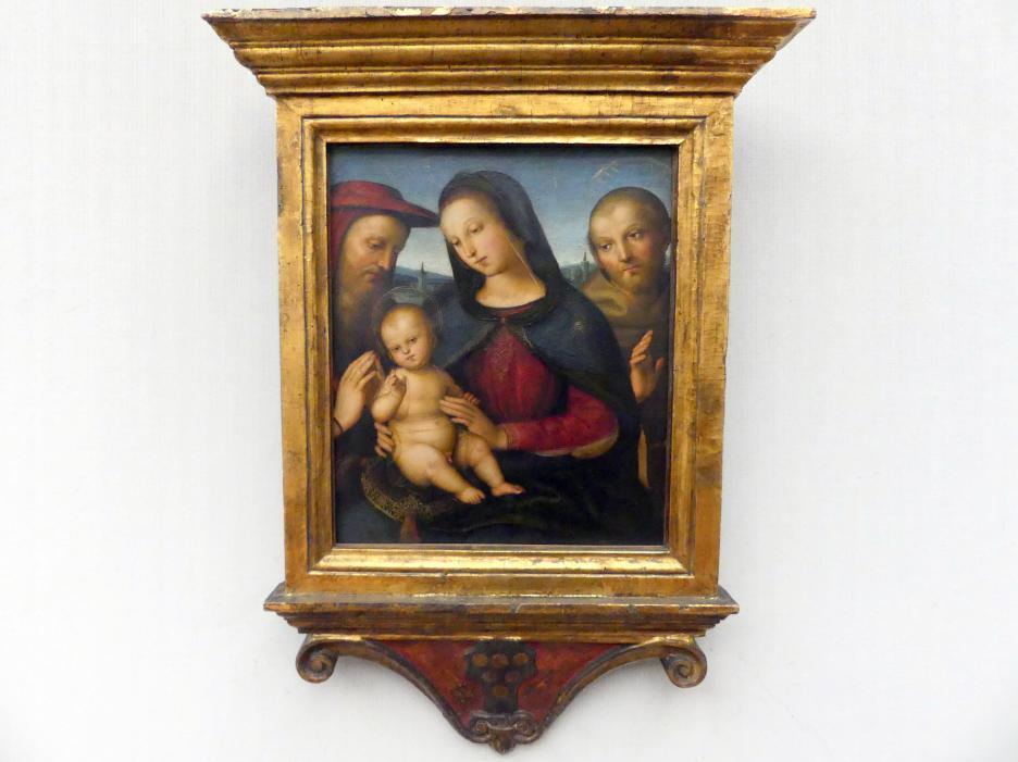 Raffaello Santi (Raffael): Maria mit dem segnenden Kind und den hll. Hieronymus und Franziskus, um 1502