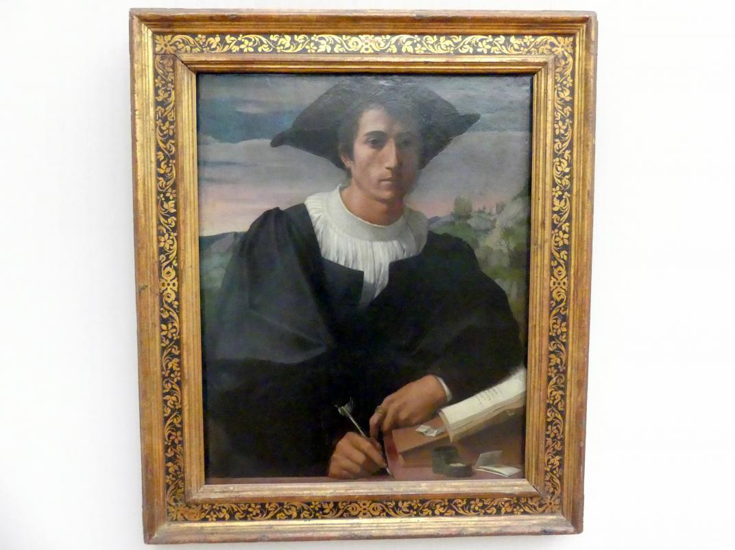 Francesco di Cristofano (Franciabigio): Bildnis eines jungen Mannes (Matteo Sofferoni?), 1522