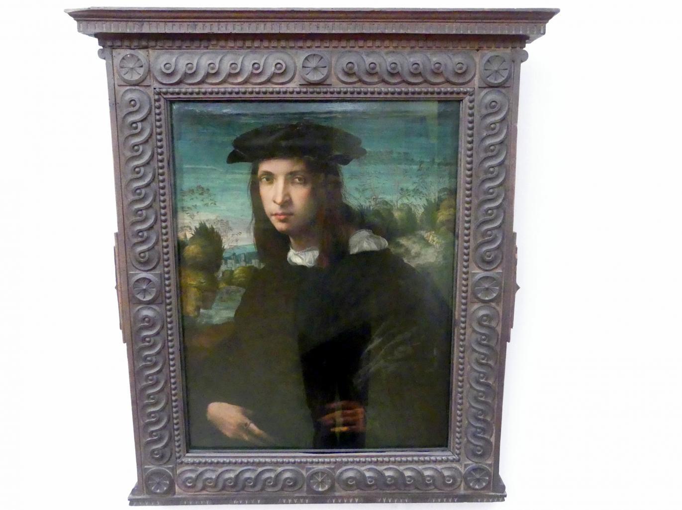 Giovan Battista di Jacopo (Rosso Fiorentino): Bildnis eines jungen Mannes, Um 1516 - 1518