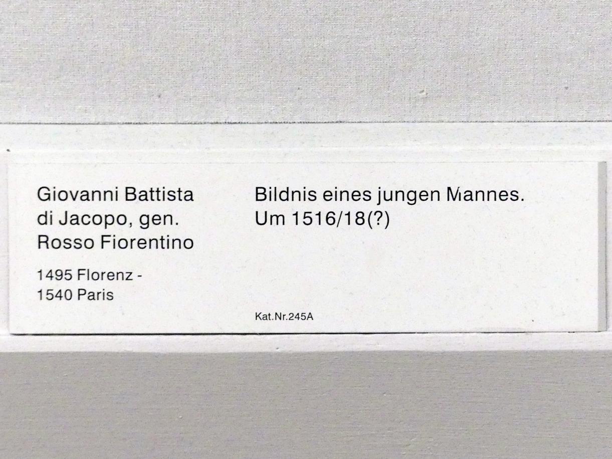 Giovan Battista di Jacopo (Rosso Fiorentino): Bildnis eines jungen Mannes, um 1516 - 1518, Bild 2/2