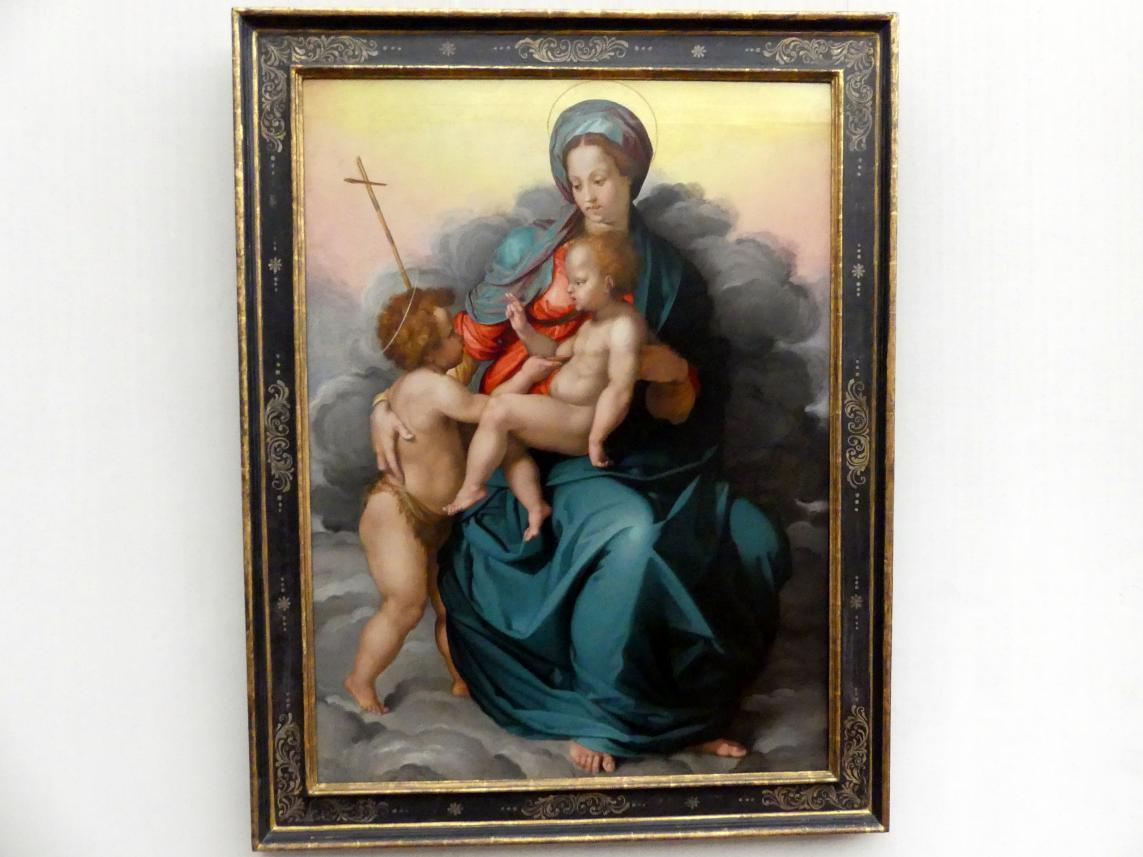 Jacopino del Conte: Maria mit dem Kind und dem Johannesknaben auf Wolken, 1530 - 1535