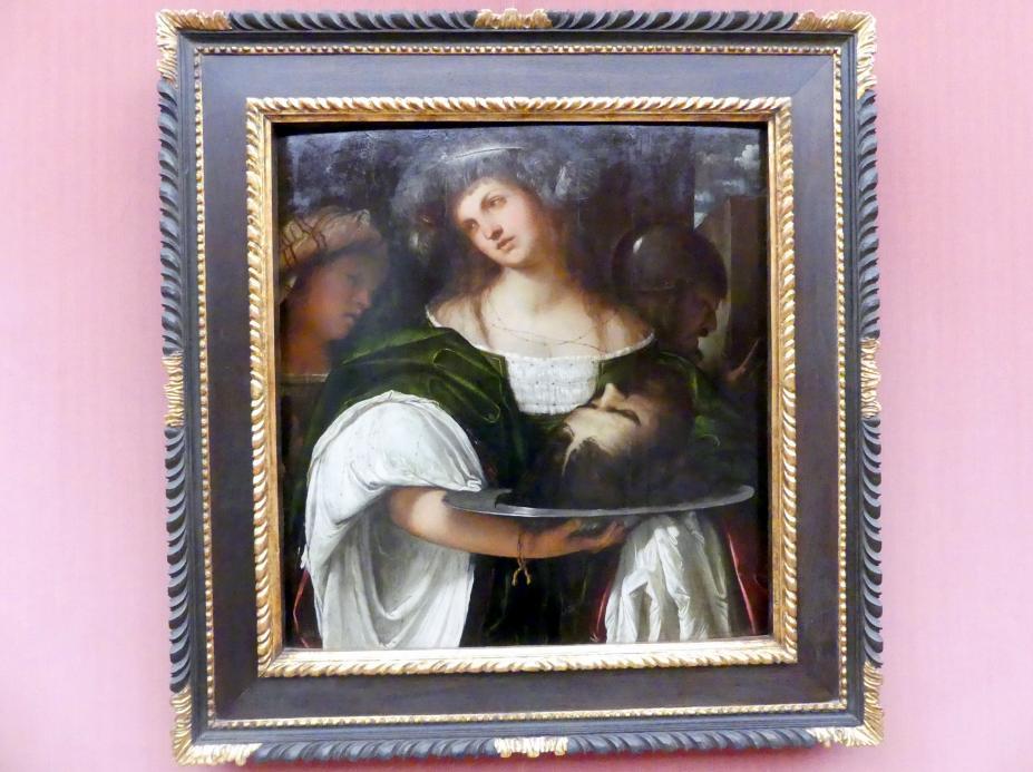 Girolamo Romanino: Salome mit dem Haupt des Johannes des Täufers, um 1516 - 1517