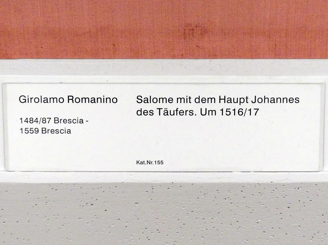 Girolamo Romanino: Salome mit dem Haupt des Johannes des Täufers, um 1516 - 1517, Bild 2/2