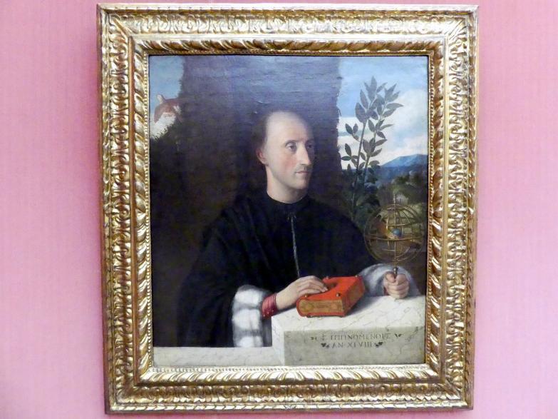 Giovanni Cariani (Giovanni Busi): Bildnis eines Astronomen, Um 1520