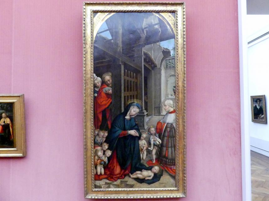 Defendente Ferrari: Die Anbetung des Kindes mit einem Stifter, 1511