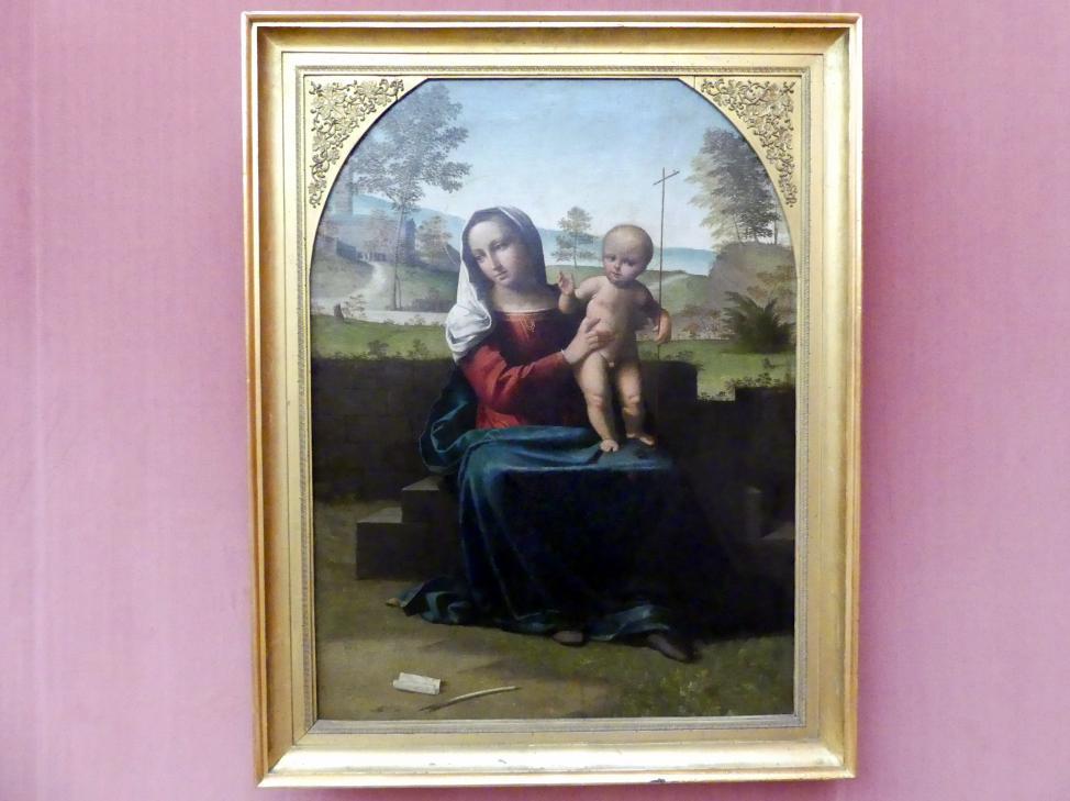 Giovanni Battista Benvenuti (Ortolano): Maria mit dem segnenden Kind, um 1516
