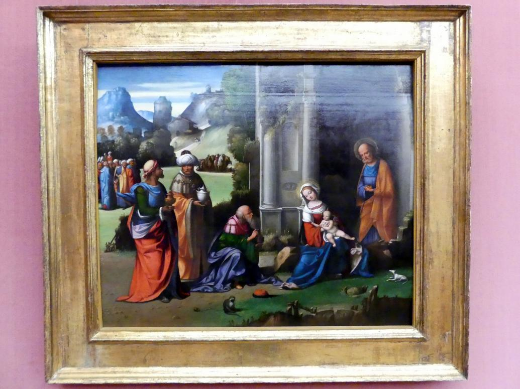 Benvenuto Tisi Garofalo: Die Anbetung der Könige, um 1508 - 1510