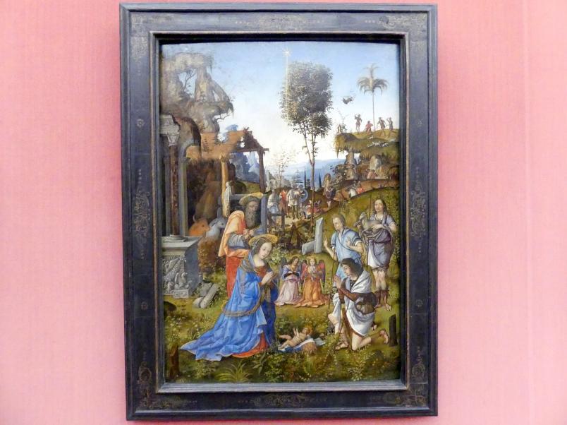 Amico Aspertini: Die Anbetung der Hirten, um 1496